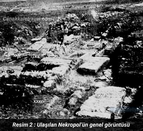 Ulaşılan Nekropol'ün genel görüntüsü