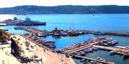 Yat Limanı ve Çanakkale Vapur İskelesinin Havadan Görünümü