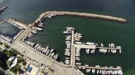 Çanakkale Yat Limanının Havadan Görüntüsü