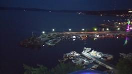 Gece Görüntüsü ile Çanakkale Kordon Boyu Liman Girişi