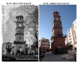 90 Yıl Önce ve Sonra Saat Kulesinin Bulunduğu Bölge