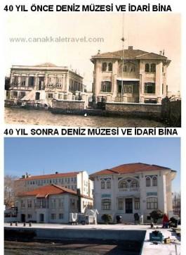 40 Yıl Önce ve Sonra Deniz Müzesi ve İdari Binanın Görünümü