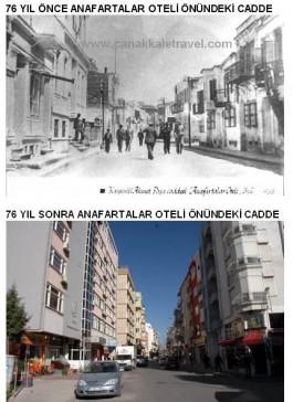 76 Yıl Önce ve Sonra Şuan Yıkılan Anafartalar Otelin Bulunduğu Bölge