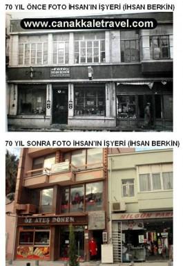 70 Yıl Önce ve Sonra Foto İhsan'ın İşyerinin Olduğu Yer