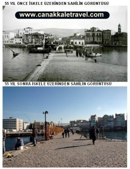 55 Yıl Önce ve Sonra Şehir İskelesi Üzerinden Şehrin Görünümü