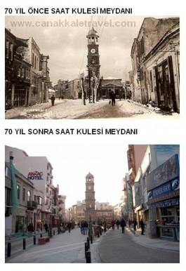 70 yıl Önce ve Sonra Saat Kulesi Civarı
