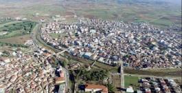 Çanakkale'nin Ezine İlçesinin Havadan Görünümü