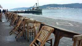 Şakir'in Yeri Önünden Nusret Mayın Gemisinin Görüntüsü