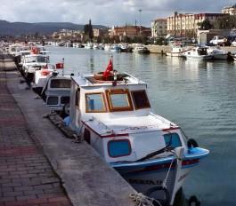 Sarıçay'daki Balıkçı Tekneleri