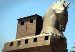 Troia Antik Kentindeki Tahta At