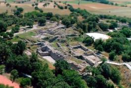 Troia Antik Kenti'nin Havadan Görünümü