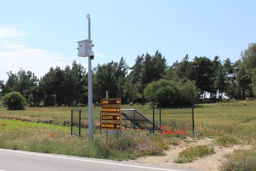 Gelibolu Yarımadası'nda Güvenlik Kamera Sistemi Kuruldu