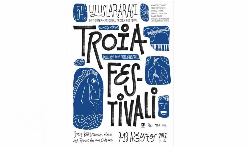 """İşte """"54. Uluslararası Troia Festivali""""nin Afişi"""
