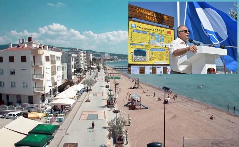 """""""Mavi Bayrak"""" 3. Kez Barış Plajında Dalgalanacak"""