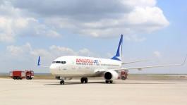 Çanakkale'de Lastiği Patlayan Uçak Havalanamadı