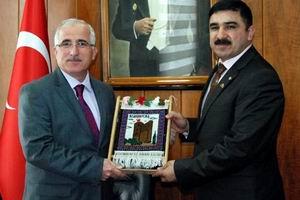 Azerbaycan Milli Kahramanı Hüseyinli'den Valilik Ziyareti