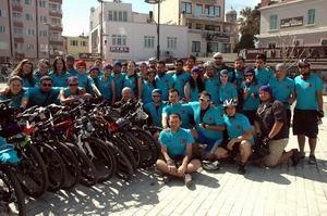350 Bisikletçi Çanakkale Şehitleri İçin Pedal Çevirdi