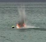 Denizde Bulunan 90 Yıllık Mermi Fünye İle Patlatılarak İmha Edildi