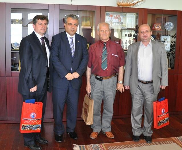 St. Kliment Ohridski - Bitola Üniversitesi'nden Rektör Akdemir'e ziyaret