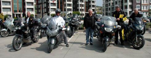8. Avrupa Motosiklet Turu'na Katılan Sporcular Çanakkale'de