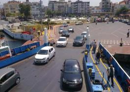 Arabalı Vapuruna Binen Araçlar ve Şehir İskelesi