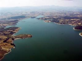 Bayramiç Barajının Havadan Görünümü