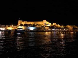 Bozcaada Kalesi'nin Gece Görünümü