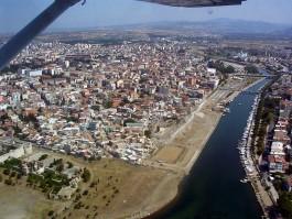 Sarıçay ve Şehrin Havadan Görünümü