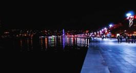 Çanakkale Kordon Boyunun Gece Görünümü