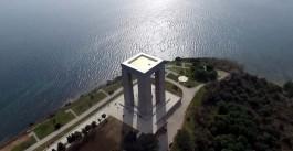 Çanakkale Şehitler Abidesi'nin Havadan Görünümü