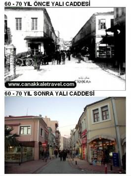 60-70 Yıl Önce ve Sonra Yalı Caddesi
