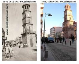 50 Yıl Önce ve Sonra Saat Kulesinin Görünümü