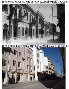 40 Yıl Önce ve Sonra Kayserili Ahmet Paşa Caddesi Civarı