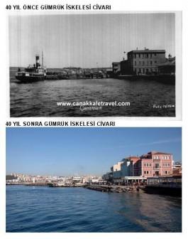 70 Yıl Önce ve Sonra Gümrük İskelesi Civarı