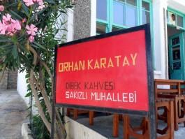 Gökçeada Zeytinliköy'de Orhan Karatay'ın Ünlü Dibek Kahvesi