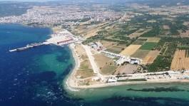 Kepez Limanının ve Sahil Kesiminin Havadan Görünümü