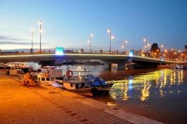 Sarıçay Üzerinde Yeni Yapılan 'İnönü Köprüsü'nün Gece Görünümü
