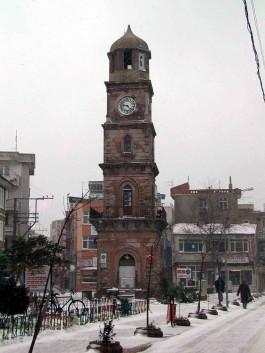 Karlar Altında Çanakkale Saat Kulesi