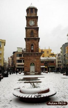 Kış Mevsiminde Çanakkale Saat Kulesi