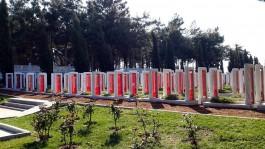 Çanakkale Şehitler Abidesi Önündeki Temsili Mezarlar