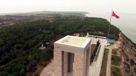 Çanakkale Şehitler Abidesi'nin Havadan Çekilen Görünümü