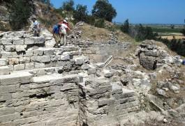 Troia Antik Kentindeki Kazı Çalışmalarından Görüntü