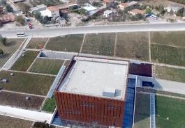 Çanakkale Merkeze Bağlı Tevfikiye Köyü Girişindeki Troya Müzesi'nin Havadan Görünümü