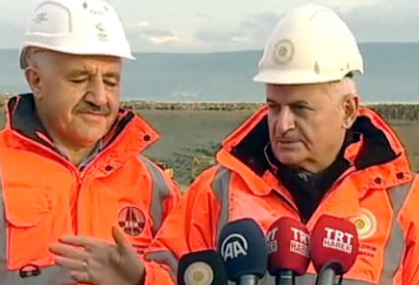 Başbakan Yıldırım, Çanakkale Boğaz Köprüsü İnşaatını İnceledi