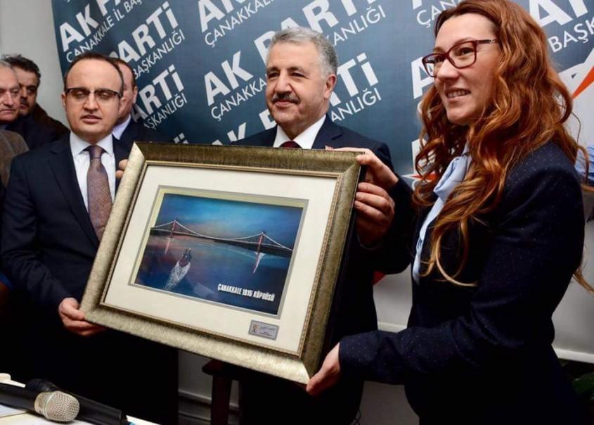 Bakan Arslan Boğaz Köprüsü Temel Atma Bölgesini İnceledi