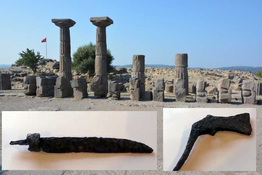 Assos Antik Kenti'nde 1300 Yıllık Pala ve Balta Bulundu