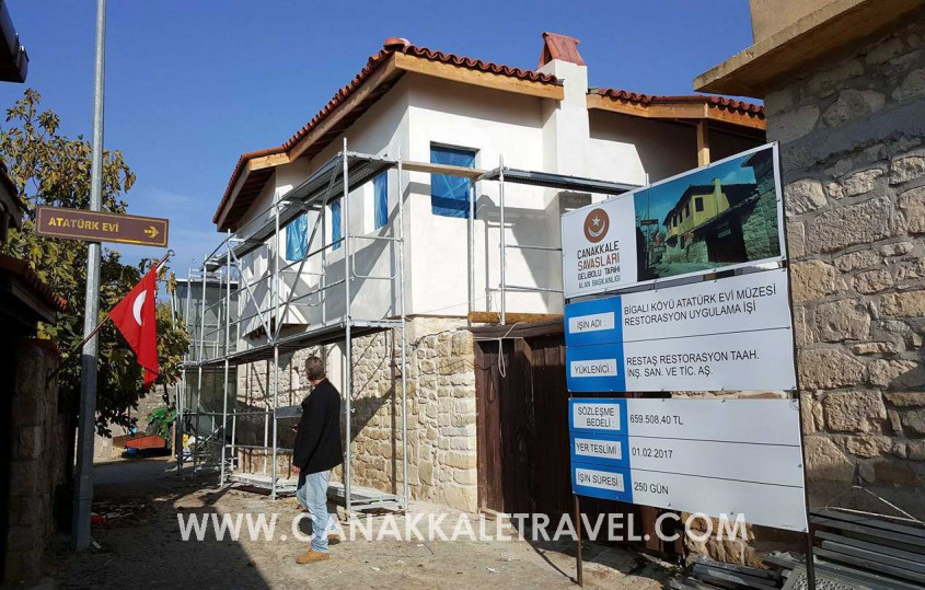 Atatürk Evinin Restorasyon Çalışmalarında Sona Yaklaşıldı