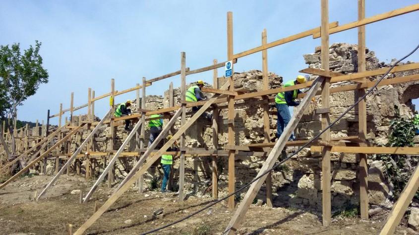 197 Yıllık Tarihi Bigalı Kalesi Restore Ediliyor