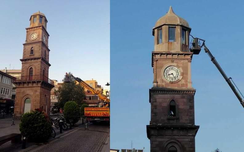 Çanakkale'de 124 Yıllık Tarihi Saat Kulesi Bakıma Alındı