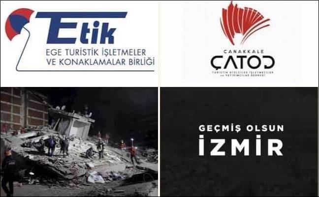 ÇATOD İzmir Depreminde Evsiz Kalan Vatandaşlara Kucak Açtı